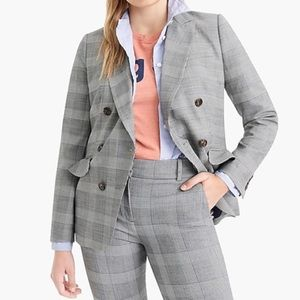 J. Crew Ruffle pocket blazer in Glen plaid